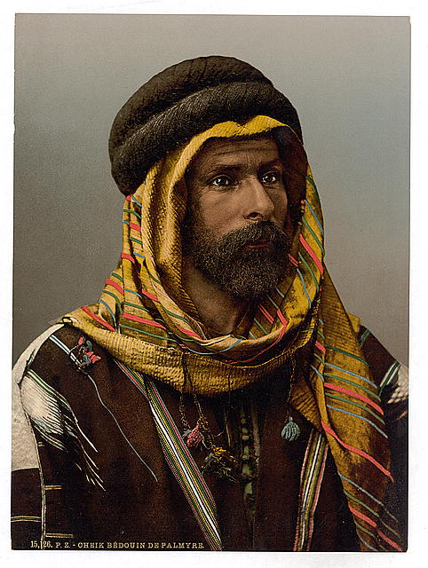 [Bedouin Chief of Palmyra, Holy Land (i.e., Tadmur, Syria)]