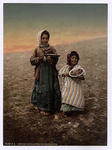[Native children from neighborhood of Jerusalem, Holy Land]