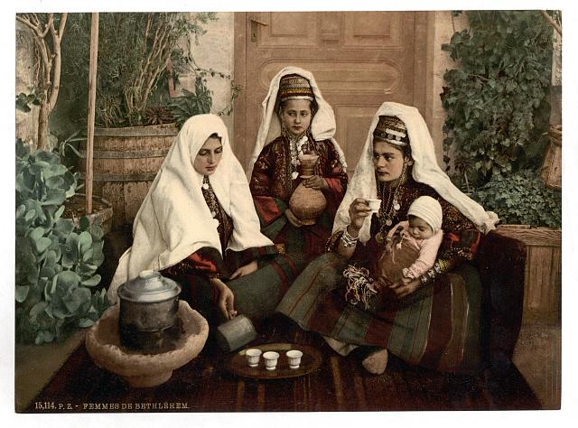 [Group of women of Bethlehem, Holy Land, (i.e., West Bank)]