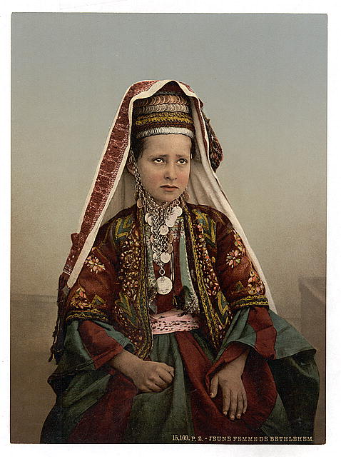 [Young women of Bethlehem in costume, Holy Land]