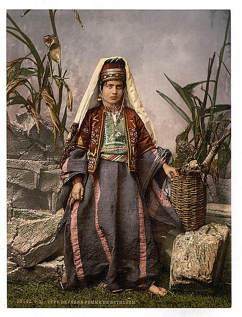 [Young women of Bethlehem, Holy Land, (i.e., West Bank)]