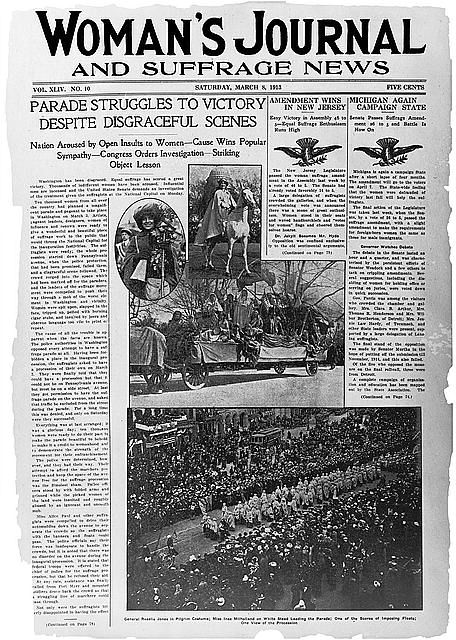 Suffrage Parade News Story