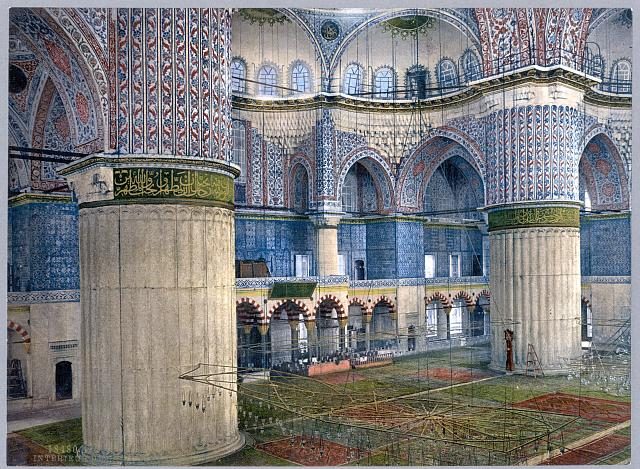 [Mosque of Sultan Ahmet I, interior, Constantinople, Turkey]