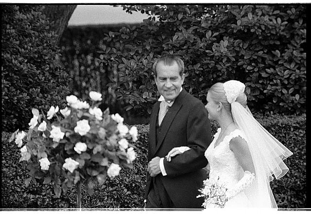 White House wedding. Pres. Nixon with Tricia