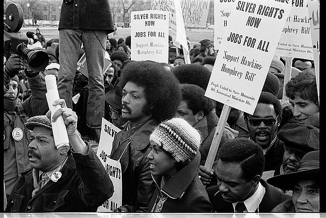 Reverend Jessee [i.e., Jesse] Jackson's march for jobs -- around the White House