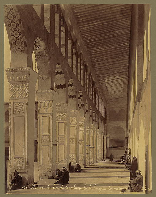 Damas - Couloir de la colonnade de la grande mosque