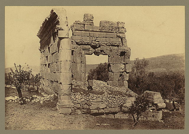[Syria - Ruin of Phoenician Temple at Hibbaryeh, near Banias]