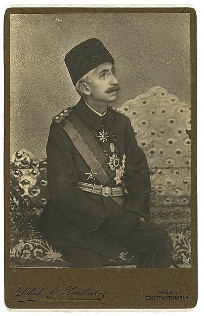 [Mehmet VI, three-quarter length portrait, seated, facing front]
