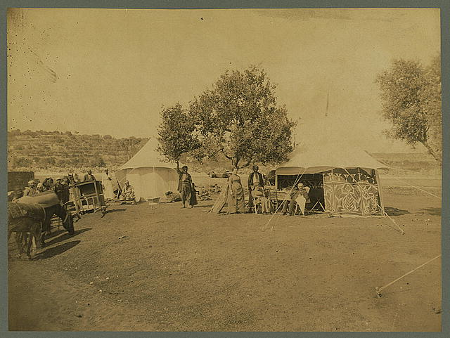 Tourist tent camp, Palestine