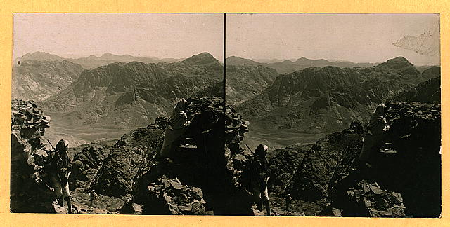 The ridge of the Mt. of Law - Mt. Sinai region