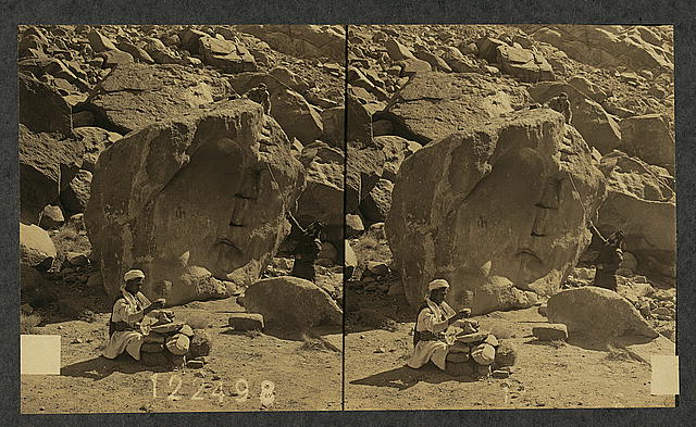 The rock struck by Moses, Mt. Sinai