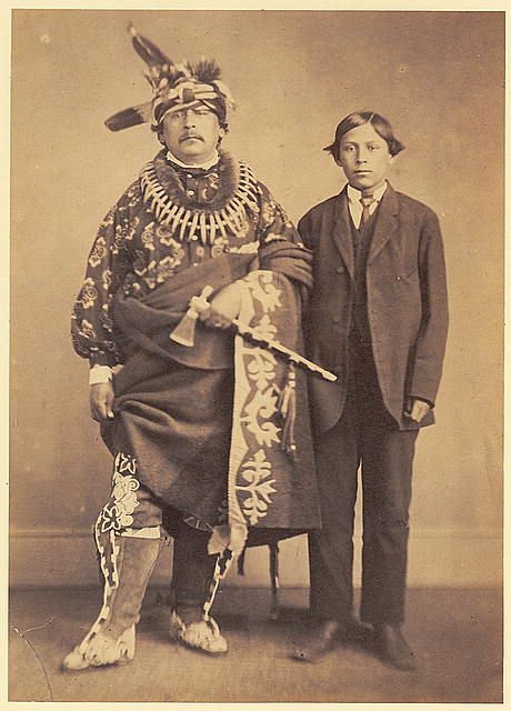 Keokuk Jr. and his son Charles
