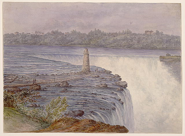 Grand Falls at Niagara from near the observatory, Goat Island, July 22, 1846