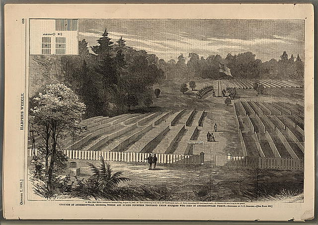 Grounds at Andersonville, Georgia, where are buried fourteen thousand Union soldiers, who died in Andersonville Prison