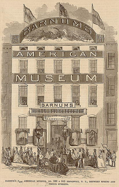 Barnum's new American museum, no. 539 & 541 Broadway, N.Y., between Spring and Prince streets The lecture room of Barnum's new American museum.