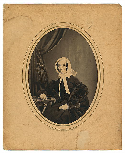 [Rebecca Gratz, three-quarter length studio portrait, seated, facing front]