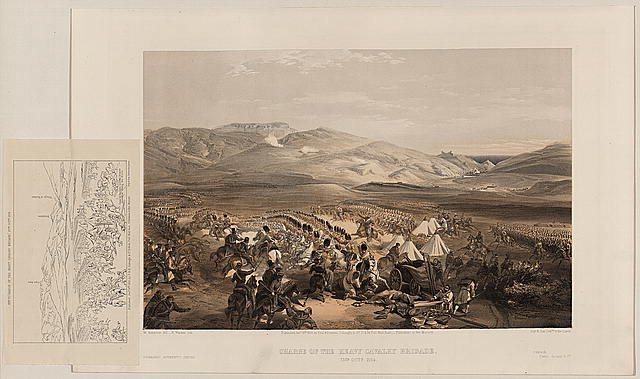 Charge of the heavy cavalry brigade, 25th Octr. 1854
