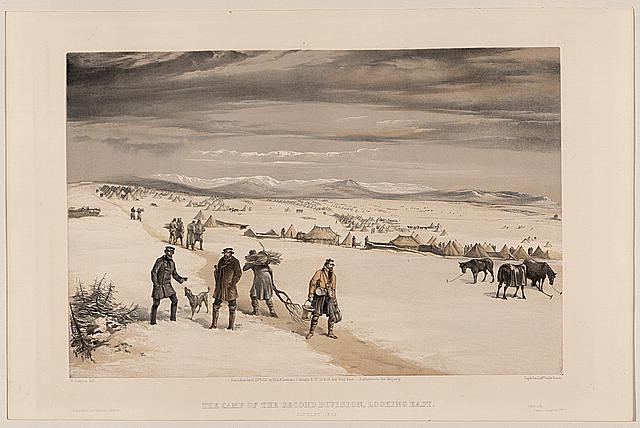 The camp of the second division, looking east January 1855