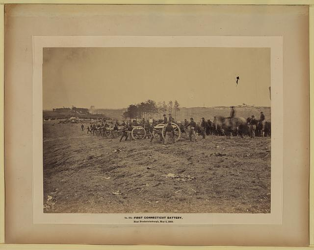 First Connecticut battery, near Fredericksburgh, May 2, 1863