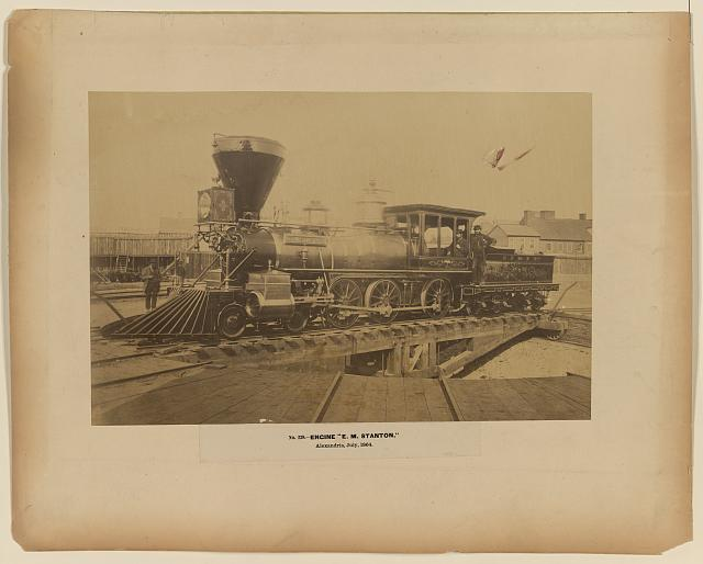 "Engine ""E.M. Stanton,"" Alexandria, July 1864"