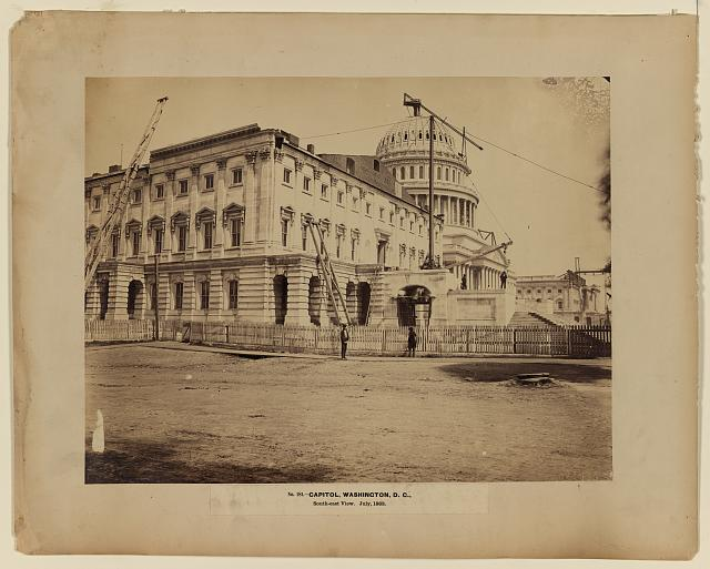 Capitol, Washington, D.C., south-east view, July, 1863