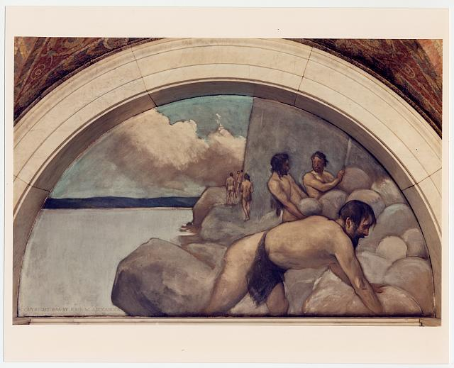 [Cairn mural in Evolution of the Book series, by John W. Alexander. Library of Congress Thomas Jefferson Building, Washington, D.C.]
