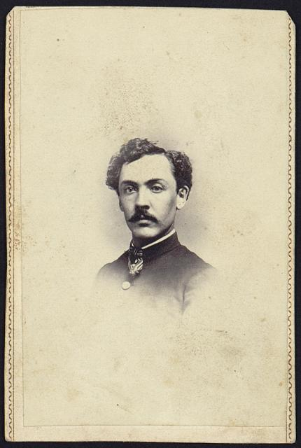 "[Edward H. Perkins, Co. ""C"" 6th Vt. Vols., head-and-shoulders portrait, facing front, wearing military uniform]"