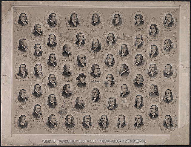 Portraits & autographs of the signers of the Declaration of Independence