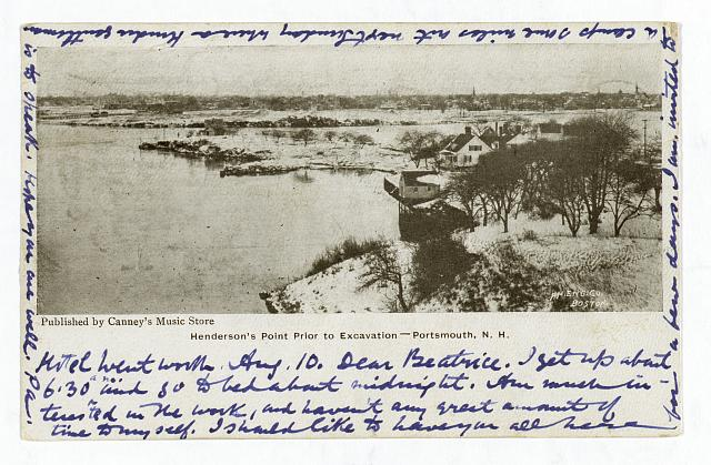 Henderson's Point prior to excavation -- Portsmouth, N.H.