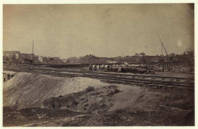 [Railroad construction on the City Point and Army railroad line]