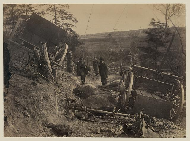 Rebel caisson destroyed by Federal shells, at Fredericksburgh, May 3, 1863