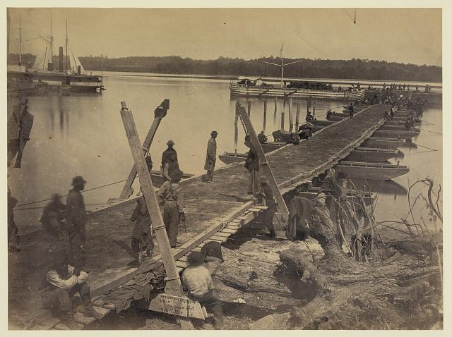 Upper wharf, Belle Plain. Built by U.S.M.R.R. Construction Corps