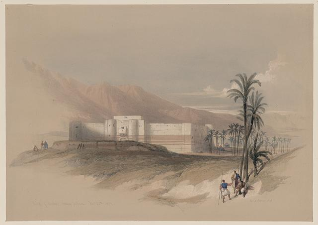 Fortress of Akabah Arabia Petra Feb. 28th 1839