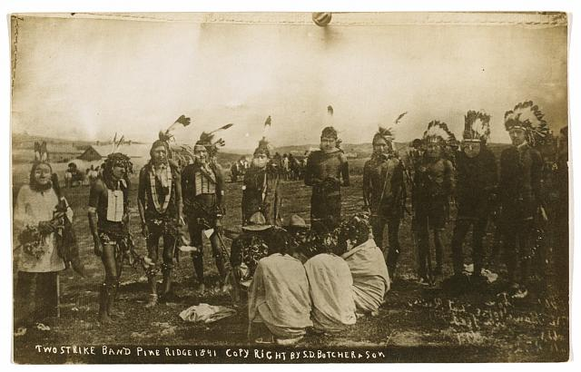 Two Strike['s] band [Brulé Lakota] Pine Ridge 1891