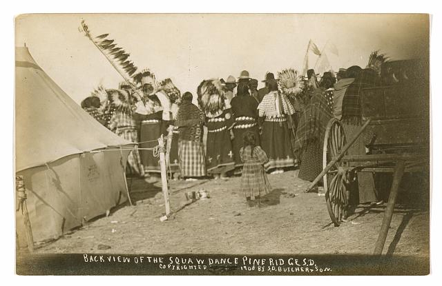 Back view of the Squaw dance Pine Ridge S.D.