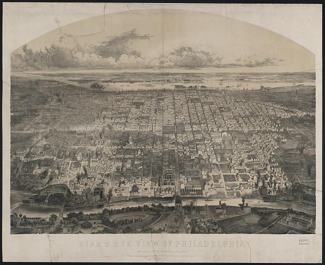 Bird's eye view of Philadelphia