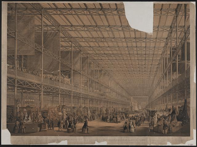 View of the nave of the great exhibition building, Hyde Park