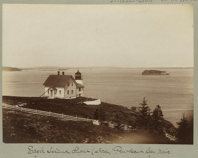 Eagle Island Light, (4th order), Penobscot Bay, Maine