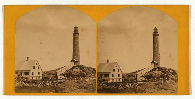 Thacher's Island lights--north tower