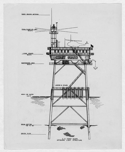 U.S. Coast Guard Offshore light structure