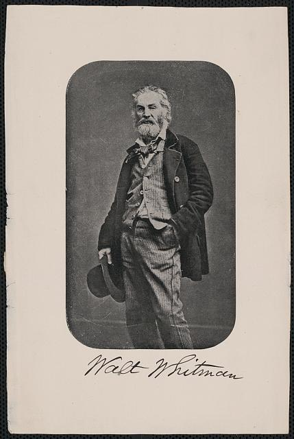 [Walt Whitman, three-quarter length portrait, standing, facing front]