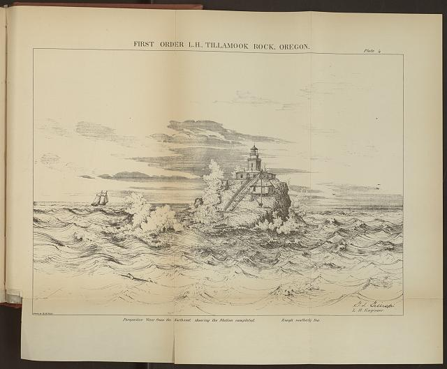 Above print: First Order L.H., Tillamook Rock, Oregon