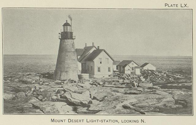 Mount Desert light-station, looking N.