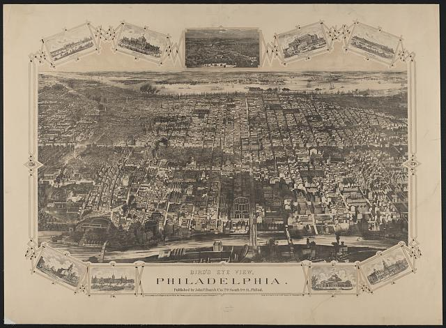 Bird's eye view, Philadelphia