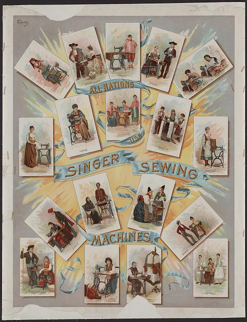 All nations use Singer sewing machines
