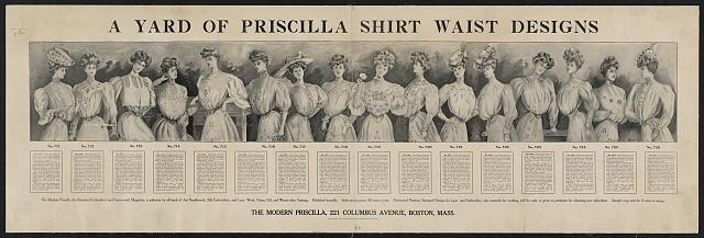 A yard of Priscilla shirt waist designs
