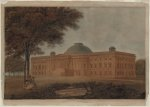United States Capitol, Washington, D.C. Perspective from the northeast [Latrobe] (1806)