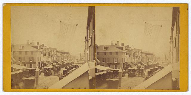 Instantaneous view of Market St., Wilmington, [Delaware,] on market day