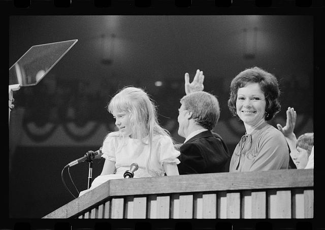 [Rosalynn, Amy, and Jimmy Carter at the Democratic National Convention, New York City]