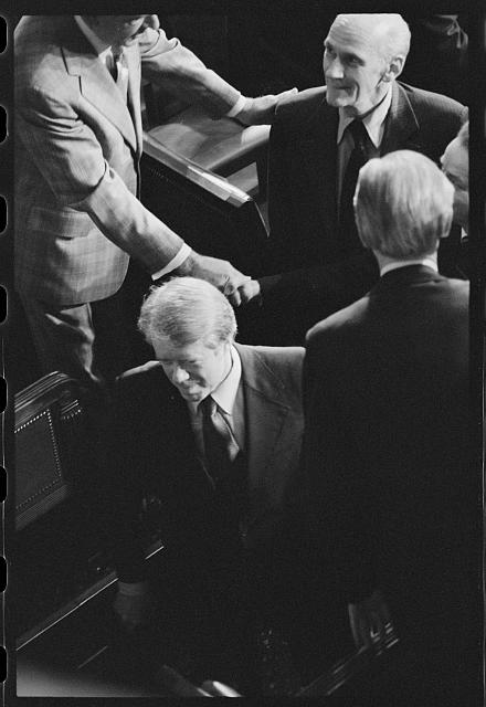 [President Jimmy Carter surrounded by members of Congress at a Joint Session, Washington, D.C.]